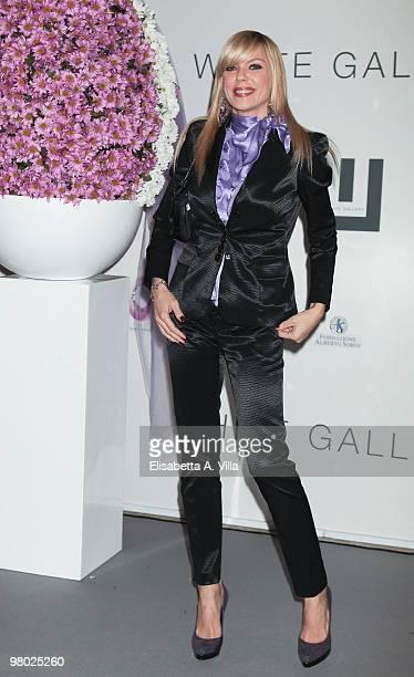 Matilde Brandi attends 'L'Arte Nell'Uovo Di Pasqua' Charity Event at the White Gallery on March 24 2010 in Rome Italy