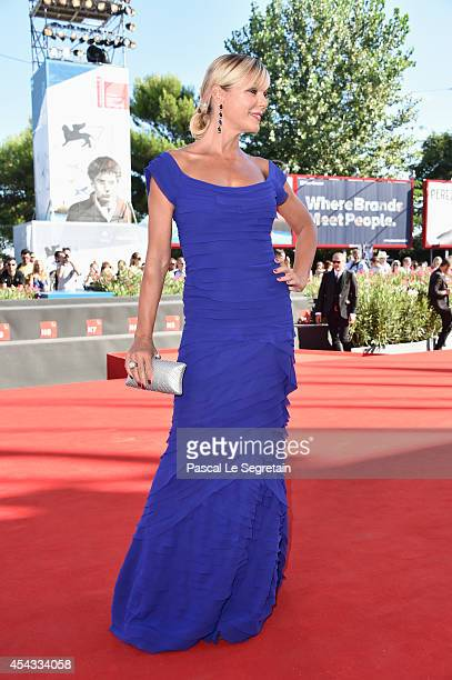 Matilde Brandi attends the 'Anime Nere' Premiere during the 71st Venice Film Festival on August 29 2014 in Venice Italy