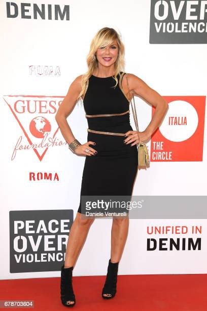 Matilde Brandi attends the Guess Foundation Denim Day 2017 at Palazzo Barberini on May 4 2017 in Rome Italy