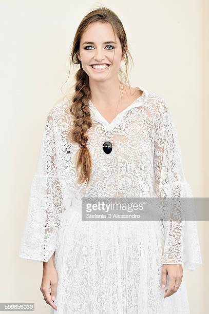 Matilde Gioli attends a photocall for L'Oreal Paris Award For The Cinema during the 73rd Venice Film Festival at Palazzo del Casino on September 7...