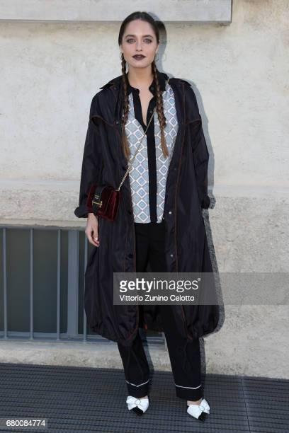 Matilde Gioli attends a 'Private view of 'TV 70 Francesco Vezzoli Guarda La Rai' at Fondazione Prada on May 7 2017 in Milan Italy
