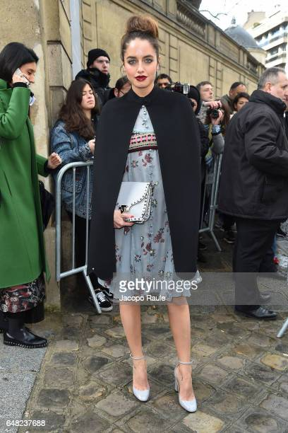 Matilde Gioli is seen arriving at Valentino fashion show during the Paris Fashion Week Womenswear Fall/Winter 2017/2018 on March 5 2017 in Paris...