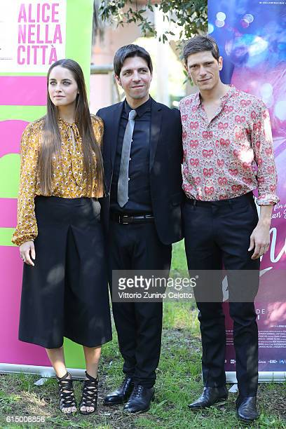 Matilde Gioli Ivan Silvestrini and Matteo Martari attend a photocall for '2Night' during the 11th Rome Film Festival at Auditorium Parco Della Musica...