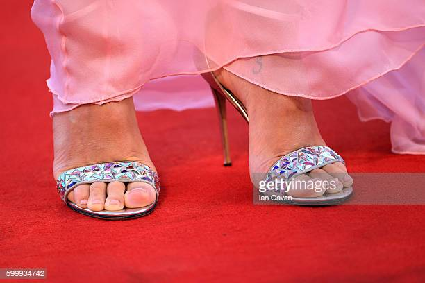 Matilde Gioli shoes detail attends the premiere of 'Jackie' during the 73rd Venice Film Festival at Sala Grande on September 7 2016 in Venice Italy