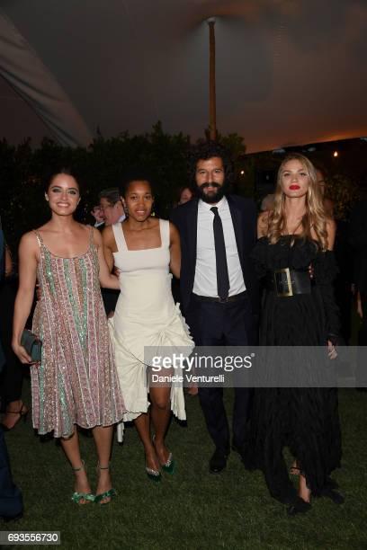 Matilde Gioli Tamu McPherson Francesco Scianna and Fiammetta Cicogna attend McKim Medal Gala at Villa Aurelia on June 7 2017 in Rome Italy