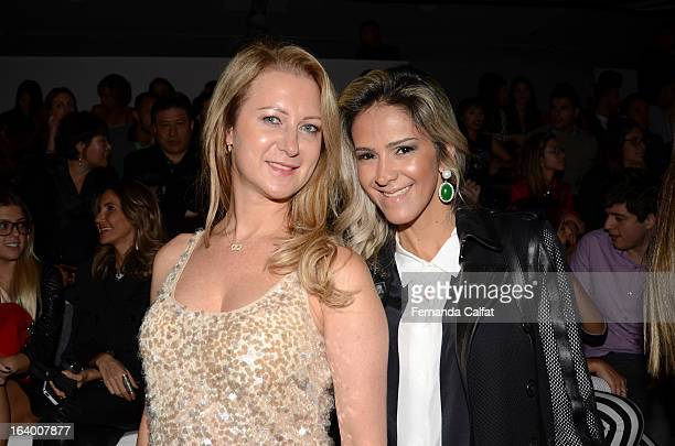 Matilde Gluchck and Cristiane Lafratta attend the Tufi Duek show during Sao Paulo Fashion Week Summer 2013/2014 on March 18 2013 in Sao Paulo Brazil
