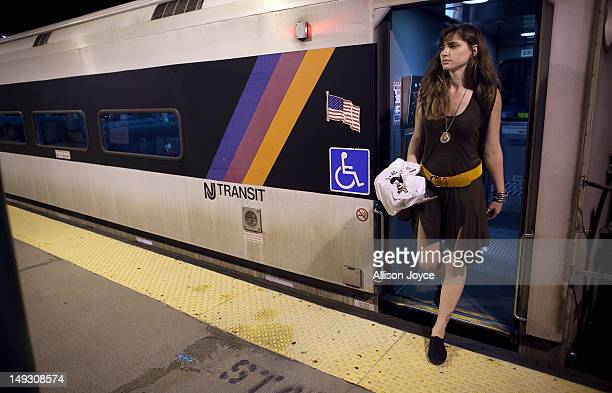 Matilde Hoffman gets off the train June 22 2012 in Summit New JerseyMatilda graduated from University of Southern California in December of 2011 with...