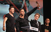 Matiu Walters of Six60 accepts their Tui award for Single of the Year during the 2012 Vodafone New Zealand Music Awards at Vector Arena on November 1...