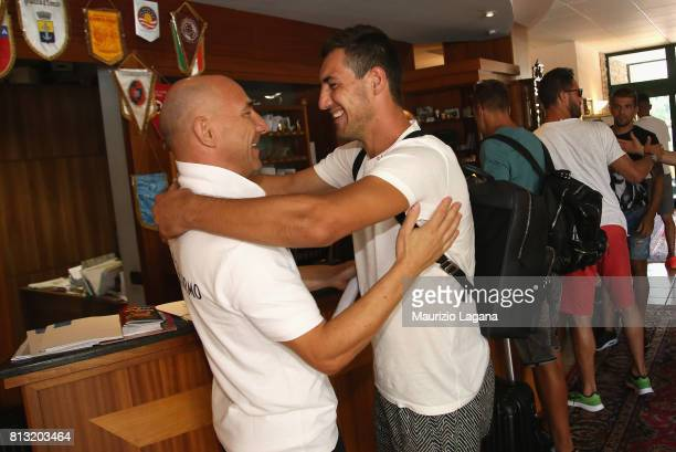 Mato Jajalo of Palermo arrives at the hotel on July 12 2017 in Gradisca d'Isonzo Italy