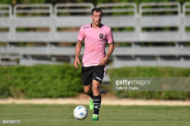 Mato Jajalo of Palermo in action during a friendly match between US Citta' di Palermo and Monreale at Carmelo Onorato training center on July 30 2017...