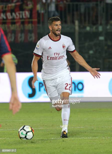 Mato Musacchio during the Serie A match between FC Crotone and AC Milan on August 20 2017 in Crotone Italy