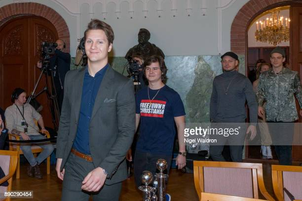 Matoma Lukas Graham attend the press conference ahead of the Nobel Peace Prize Concert 2017 at the Norwegian Nobel Institute on December 11 2017 in...