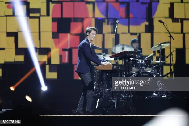 Matoma performs during the Nobel Peace Prize Concert to honor the peace prize laureates ICAN in Fornebu Norway on December 11 2017 / AFP PHOTO / NTB...