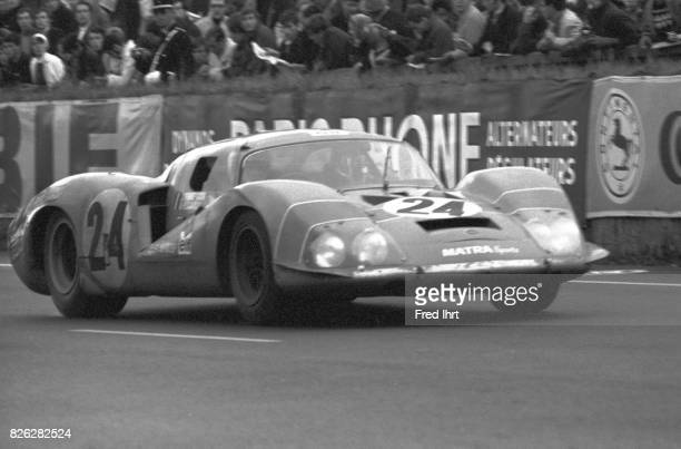 Matra MS630 on the track racing Le Mans 1968 #24 Team Equipe Matra Sports Johnny Georges ServozGavin Henri Pescarolo 19 Place Le Mans 1968 24 hour...