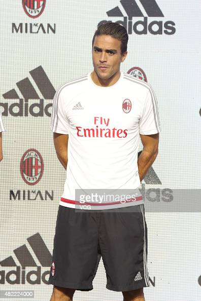 Matri Alessandro of AC Milan attends an adidas event at adidas football base on July 28 2015 in Shanghai China