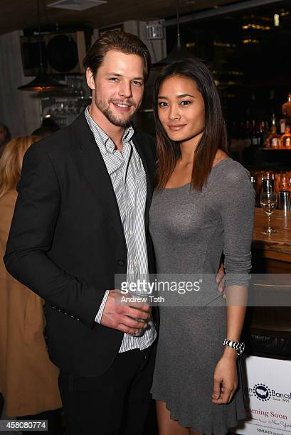 Mats Christeen and Jarah Mariano attend The Social Network Mixer on October 29 2014 in New York City