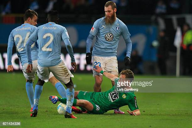 Mats Goberg Solheim of Hammarby IF during the Allsvenskan match between Malmo FF and Hammarby IF at Swedbank Stadion on November 6 2016 in Malmo...