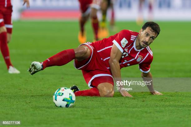 Mats Hummels of Bayern Muenchen controls the ball am boden during the DFL Supercup 2017 match between Borussia Dortmund and Bayern Muenchen at Signal...