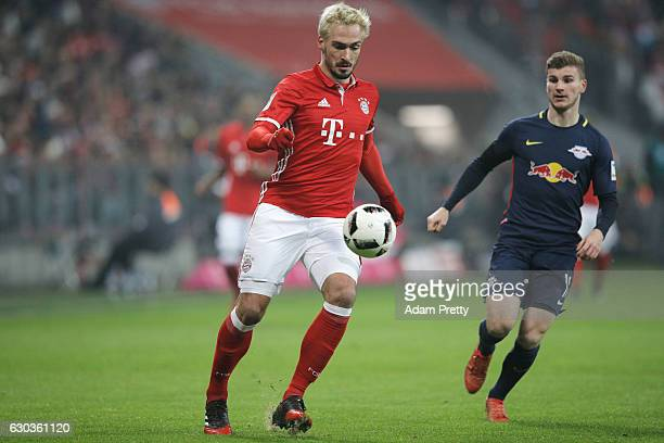 Mats Hummels of Bayern Muenchen in action during the Bundesliga match between Bayern Muenchen and RB Leipzig at Allianz Arena on December 21 2016 in...