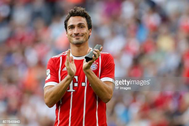 Mats Hummels of Bayern Muenchen looks on during the Audi Cup 2017 match between SSC Napoli and FC Bayern Muenchen at Allianz Arena on August 2 2017...