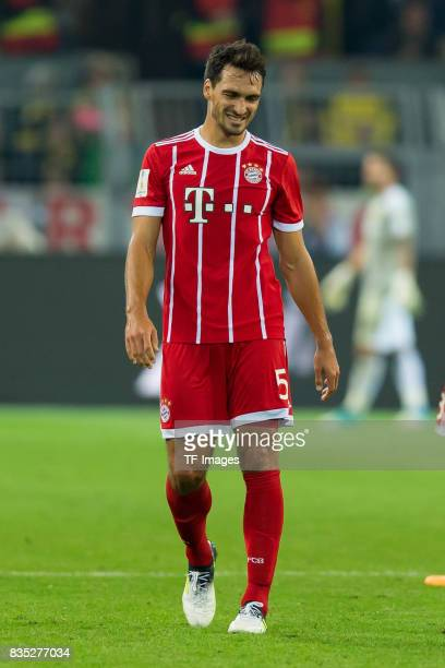 Mats Hummels of Bayern Muenchen looks on during the DFL Supercup 2017 match between Borussia Dortmund and Bayern Muenchen at Signal Iduna Park on...