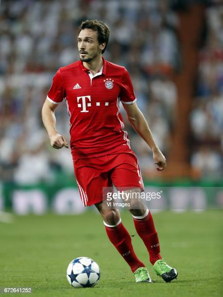 Mats Hummels of Bayern Munichduring the UEFA Champions League quarter final match between Real Madrid and Bayern Munich on April 18 2017 at the...