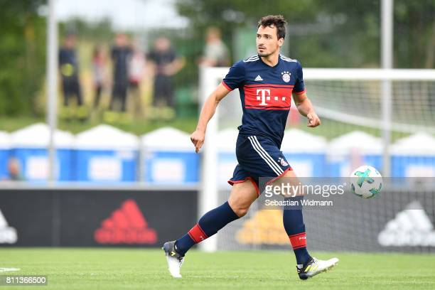 Mats Hummels of FC Bayern Muenchen plays the ball during the preseason friendly match between FSV ErlangenBruck and Bayern Muenchen at Adi Dassler...