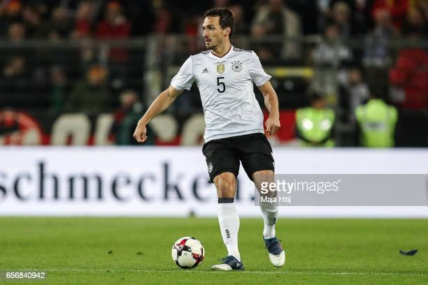 Mats Hummels of Germany controls the ball during the international friendly match between Germany and England at Signal Iduna Park on March 22 2017...