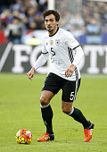 Mats Hummels of Germany in action during the international friendly match between France and Germany at Stade de France on November 13 2015 in...