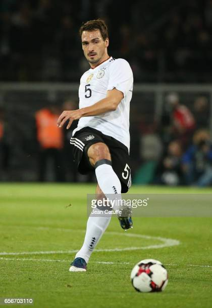 Mats Hummels of Germany in action during the international friendly match between Germany and England at Signal Iduna Park on March 22 2017 in...
