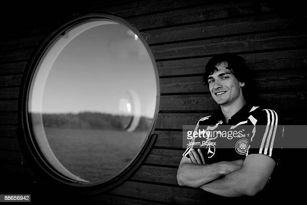 Mats Hummels of Germany is pictured during a U21 Germany mixed zone event at the Naeaes Fabrika hotel on June 24 2009 in Lerum Sweden