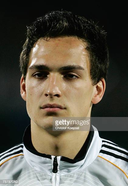 Mats Hummels of Germany looks on before the Under 21 international friendly between Germany and Czech Republic at the PaulJanes stadium on March 27...