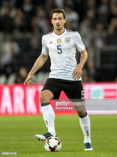 Mats Hummels of Germany runs with the ball during the international friendly match between Germany and England at Signal Iduna Park on March 22 2017...