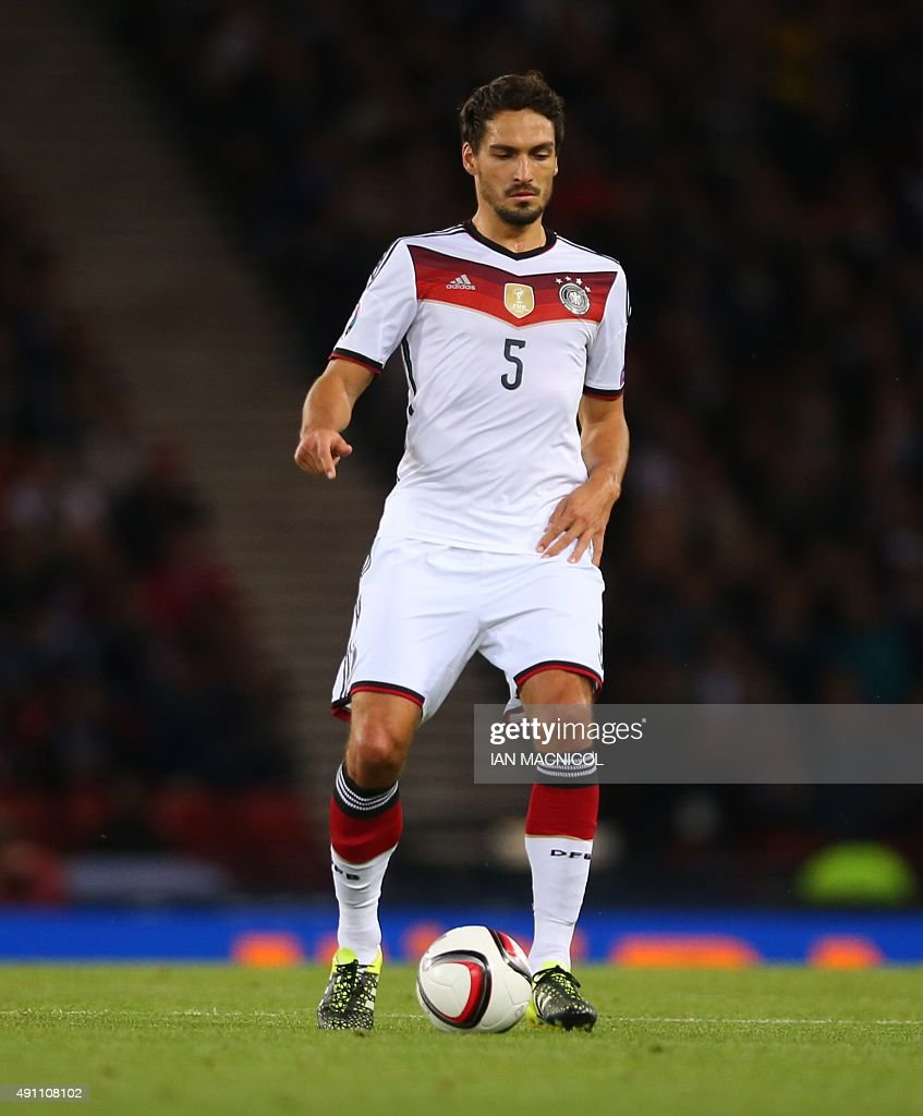 Mats Hummels of Germany runs with the ball during the UEFA Euro