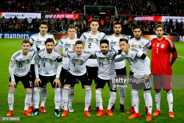Mats Hummels of Germany Toni Kroos of Germany Niklas Suele of Germany Sami Khedira of Germany Emre Can of Germany Kevin Trapp of Germany Timo Werner...
