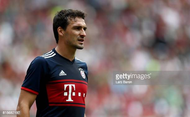 Mats Hummels of Muenchen looks on during the Telekom Cup 2017 match between Bayern Muenchen and 1899 Hoffenheim at on July 15 2017 in...