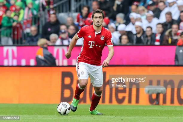 Mats Hummels of Munich controls the ball during the Bundesliga match between Bayern Muenchen and 1 FSV Mainz 05 at Allianz Arena on April 22 2017 in...