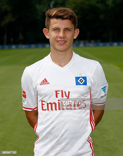 Mats Koehlert of Hamburger SV poses during the Hamburger SV Team Presentation at Volksparkstadion on July 25 2016 in Hamburg Germany