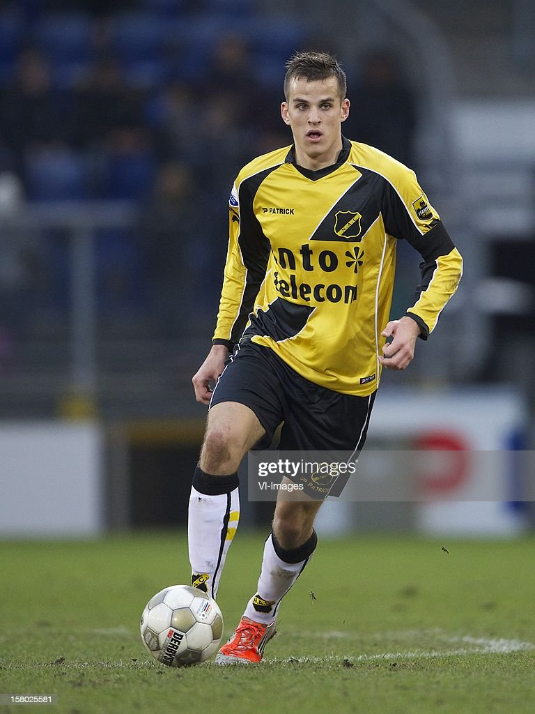 Mats Seuntjens of NAC Breda during the Dutch Eredivisie match between NAC Breda and Feyenoord at the Rat Verlegh Stadium on December 09, 2012 in Breda, The Netherlands.