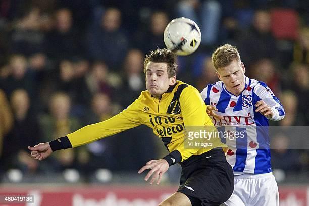 Mats Seuntjens of NAC Breda Joost van Aken of sc Heerenveen during the Dutch Eredivisie match between NAC Breda and sc Heerenveen at the Rat Verlegh...
