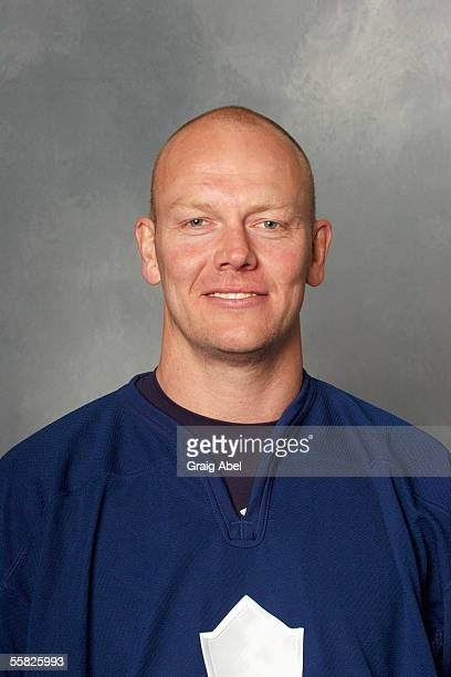 Mats Sundin of the Toronto Maple Leafs poses for a portrait at Air Canada Centre on September 122005 in Toronto Ontario Canada