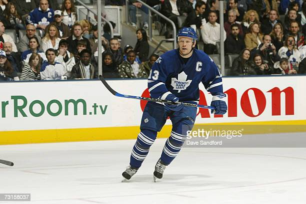 Mats Sundin of the Toronto Maple Leafs skates against the Ottawa Senators at Air Canada Centre on December 30 2006 in Toronto Ontario Canada The...