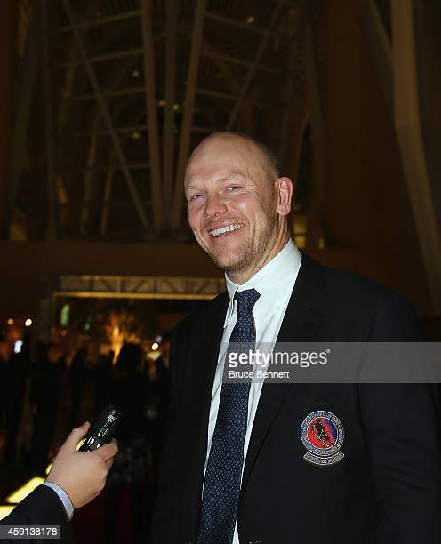 Mats Sundin walks the red carpet prior to the induction ceremony at the Hockey Hall of Fame on November 17 2014 in Toronto Canada