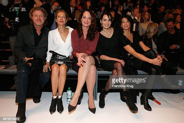 Mats Wahlstroem Ursula Karven Natalia Woerner Anja Kling and Gerit Kling attend the Minx by Eva Lutz show during the MercedesBenz Fashion Week Berlin...