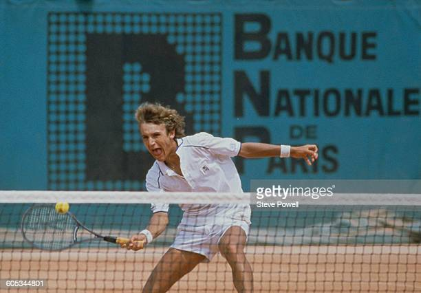 Mats Wilander of Sweden during the Men's Singles Final match at the French Open Tennis Championship on 6 June 1982 at the Stade Roland Garros Stadium...