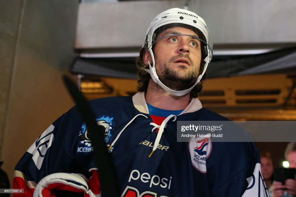 Mats Zuccarello prepares to enter the rink before the Team Zuccarello v Team Icebreakers All Star Game at the DNB Arena on August 16, 2017 in Stavanger, Norway.