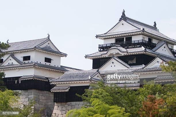 Matsuyama Castle on a warm summer's day on Shikoku Island Japan