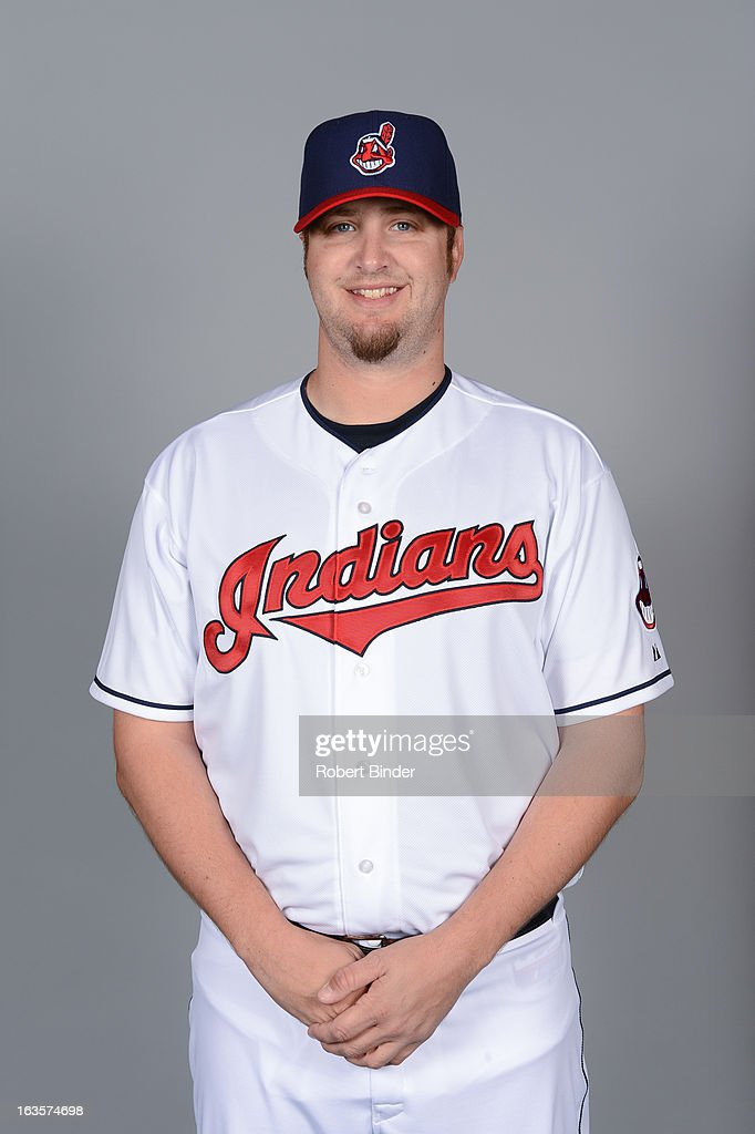 Matt Albers #32 of the Cleveland Indians poses during Photo Day on February 19, 2013 at Goodyear Ballpark in Goodyear, Arizona.
