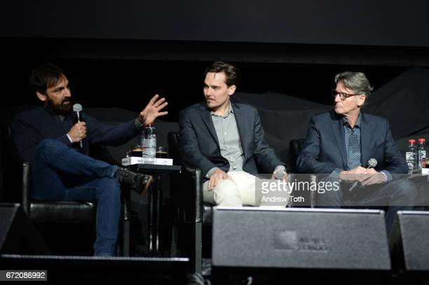 Matt Amato Adrian Buitenhuis and Derik Murray attend the 'I Am Heath Ledger' premiere during the 2017 Tribeca Film Festival at Spring Studios on...