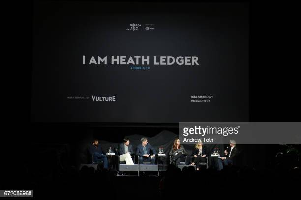 Matt Amato Adrian Buitenhuis Derik Murray Ashleigh Bell and Kate Ledger attend the 'I Am Heath Ledger' premiere during the 2017 Tribeca Film Festival...